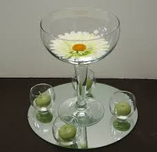 Large Martini Glass Centerpieces by Rental Centerpieces Easels Table Numbers Mirrors And More