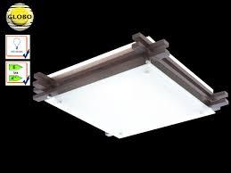 Wohnzimmer Lampe Aus Holz Globo Deckenleuchte Edison Holz Glas Deckenlampe Wohnraum