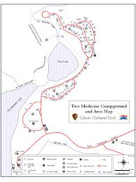 Map Of Glacier National Park Glacier National Park Two Medicine Campground Information
