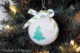 glitter tree ornament snow inside clear ornaments winter