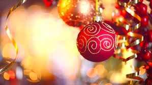 New Year Decoration Lights by Christmas And New Year Decoration Hanging Baubles Close Up
