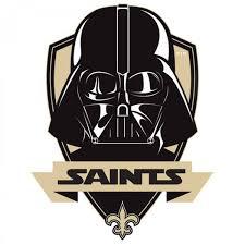new orleans saints darth vader star wars logo decal
