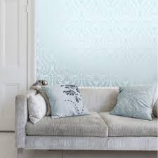 Silver Metallic Wallpaper by I Love Wallpaper Shimmer Damask Metallic Feature Wallpaper Teal
