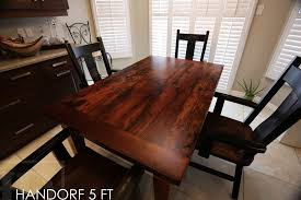 how to finish a table top with polyurethane reclaimed wood mennonite furniture 3 gerald reinink blog