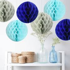 Royal Blue Baby Shower Decorations - aliexpress com buy set of 12 royal blue baby blue grey tissue