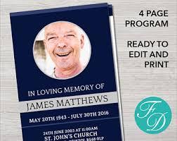 sle of funeral programs funeral program template order of service memorial programs