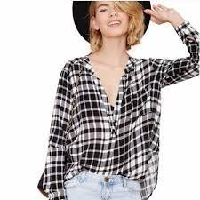 Black And White Plaid Shirt Womens Black And White Plaid Shirt For Women Oversized Loose Casual