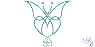 celtic butterfly of embroidery