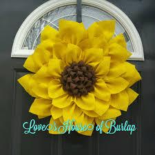 burlap sunflower wreath burlap sunflower wreath burlap flower wreath summer