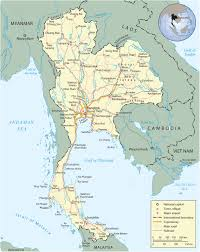 Map Of Thailand Thailand Map Bangkok