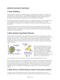 finite element method 1 basic definition finite element method