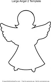 coloring marvelous xmas angel template christmas angels