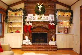 decor exciting brick fireplace decor with pottery barn christmas