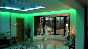 lighting ideas lounge room interior design with blue led strip