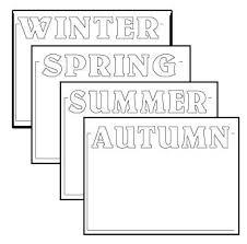 4 seasons printable worksheets with headings