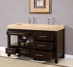 an elegant king modern trough sink with full storage bathroom