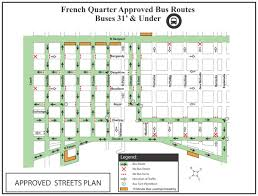 New Orleans Street Map Motorcoach Rules And Regulations In New Orleans