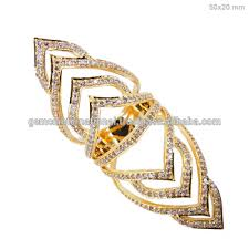 long rings design images Latest design gold jewelry 18k 750 yellow gold pave diamond long jpg