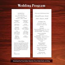 one page wedding program template template one page menu template size of free wedding program