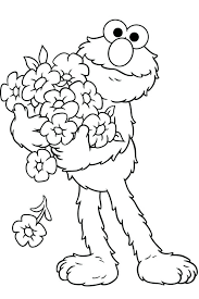 sesame street coloring pages elmo free printable kids alphabet
