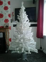 6ft white pre lit fibre optic christmas tree 30 in saltash