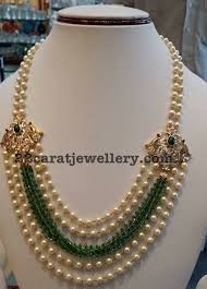 pearls beads necklace images Pearls beads set with diamond motifs pearl beads pearls and diamond jpg