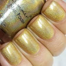 copa banana yellow gold holographic nail polish