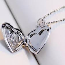 cat jewelry necklace images Photo frame locket necklace silver gold color pendant pet cat jpg