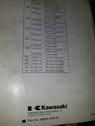 kawasaki vn1500 a b 1987 1997 vulcan dealer service manual 99924