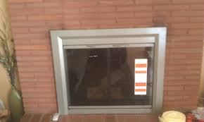 fireplace glass door installation i68 in best home decorating