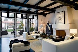design within reach sofas contemporary living room with exposed beam u0026 french doors zillow
