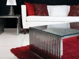 Amici Coffee Table Chrome Steel Amici Coffee Table