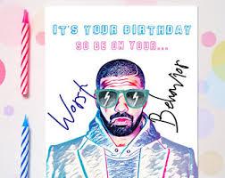 drake birthday card etsy