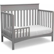 delta convertible crib toddler rail delta children fabio 4 in 1 convertible crib gray walmart com