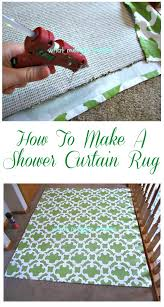Make Rug From Carpet Turn A Shower Curtain Into A Fabulous Rug With This Easy And Cheap