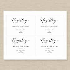 wedding registry cards wedding registry card template printable registry card