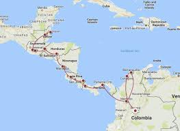 Central America And Caribbean Map by Central America Diary Memories Not Possessions