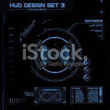 hud and gui set futuristic user interface vector illustration