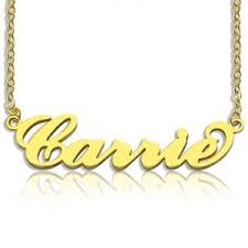 carrie necklace gold carrie bradshaw name necklace and the city