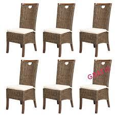 Esszimmerst Le Sitzh E 6er Set Esszimmerstühle Racine Mokka Rattanmöbel Von Rotin