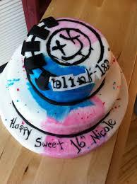 sweet 16 cake blink 182 she bakes