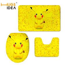 Funny Area Rugs Hugsidea Funny Anime Pokemon Pikachu Print Toilet Seat Cover For