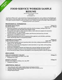 food service resumes food service worker resume 4 nardellidesign