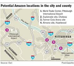 Amazon Seattle Map by More Potential Sites In Pittsburgh Region Emerge For Amazon U0027s