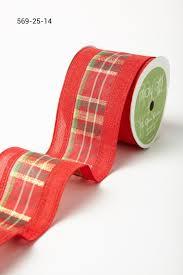 2 5 inch plaid w solid edges ribbon may arts wholesale ribbon