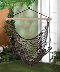 Patio Swing Chair by Espresso Brown Cotton Net Hammock Garden Patio Porch Swing Chair