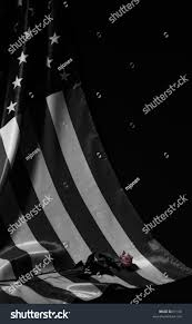 Black And White American Flag Black White American Flag Painted Red Stock Photo 61160 Shutterstock