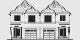 house plans for narrow lots with front garage duplex house plans duplex home designs d 538