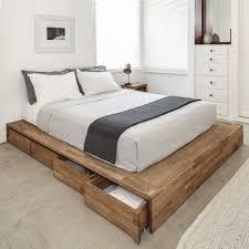 Platform Bed Drawers Bedroom Gamma Modern Platform Bed With Lights And Storage