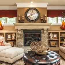 fireplace idea could put tv over mantle and then decorate the
